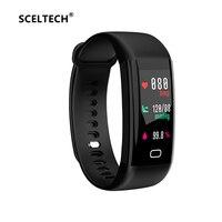 SCELTECH Waterproof F07 Smart Bracelet Heart Rate Monitor Blood Pressure Fitness Tracker Smartband Sport Watch For