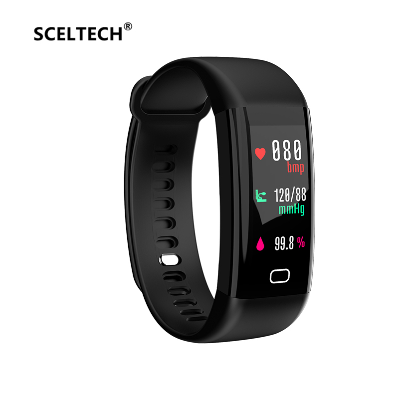 SCELTECH Waterproof F07 Smart Bracelet Heart Rate Monitor Blood Pressure Fitness Tracker Smartband Sport Watch for ios android