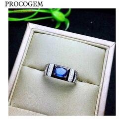 Natürliche Sri Lanka Sapphire Ringe für Männer geschenke 5x7mm 1.0Ct Echtem blau edelsteine Neue feine Engagement Schmuck 925 solide silber #629