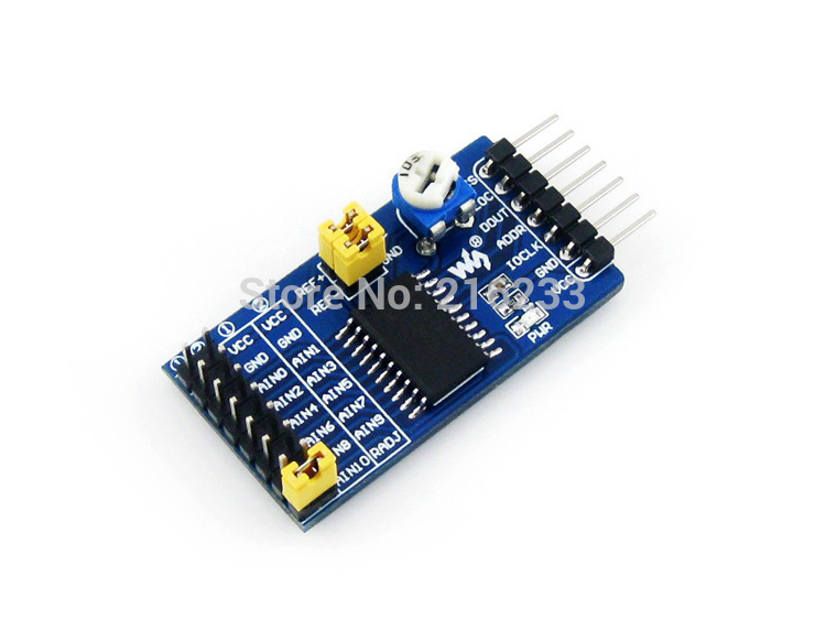 Waveshare TLC1543 ADC Board 10 Bit ADC Board Onboard Switched-capacitor Analog-to-digital Converter Module Development Kit