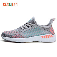 SAGUARO Unisex Light Sneakers Summer Breathable Mesh Female Jogging Running Shoes Trainers Men Women Lovers Sport