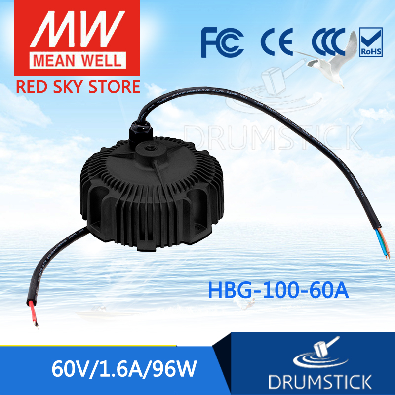 Hot sale MEAN WELL HBG-100-60A 60V 1.6A meanwell HBG-100 60V 96W Single Output LED Driver Power Supply yibuy 1 set of 4 string sealed pickups for jb bass guitar