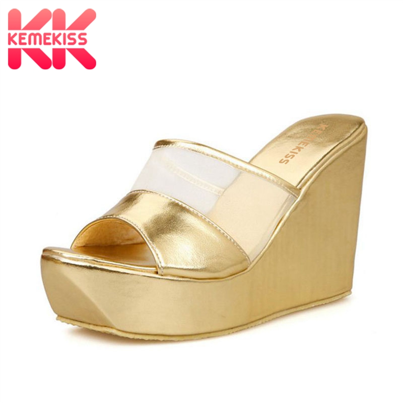 KemeKiss Size 31-43 Women High Heel Sandals Platform Open Toe Hollow Out Net Women Shoes Fashion Summer Shoes Daily FootwearKemeKiss Size 31-43 Women High Heel Sandals Platform Open Toe Hollow Out Net Women Shoes Fashion Summer Shoes Daily Footwear