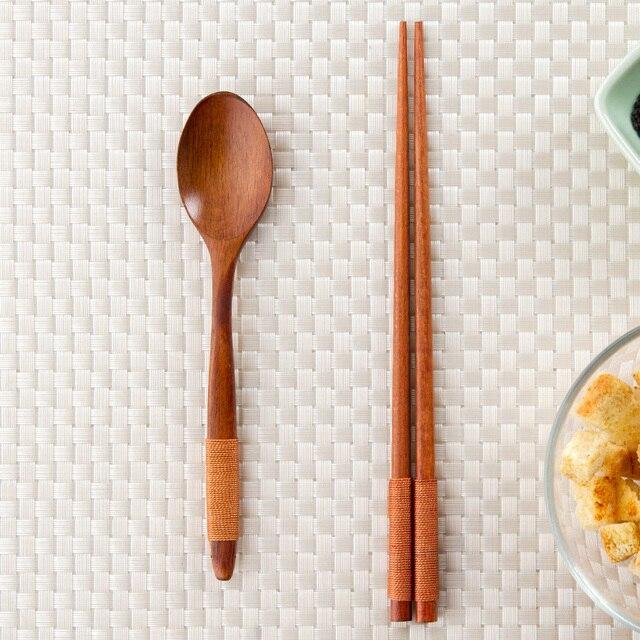 Japanese wooden tableware set long handle wooden fork portable soup tableware set & Aliexpress.com : Buy Japanese wooden tableware set long handle ...