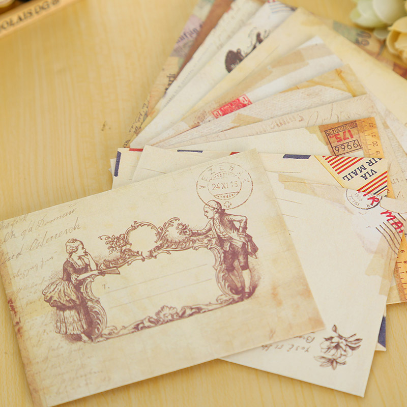 12 Pcs/lot Vintage Mini Paper Envelope Scrapbooking Envelopes Small Envelopes Kawaii Stationery Gift