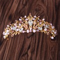 Gorgenous Bride handmade crystal Tiaras Bridal Wedding headdress hair accessories Women Party Hiar Crowns Hair Jewelry