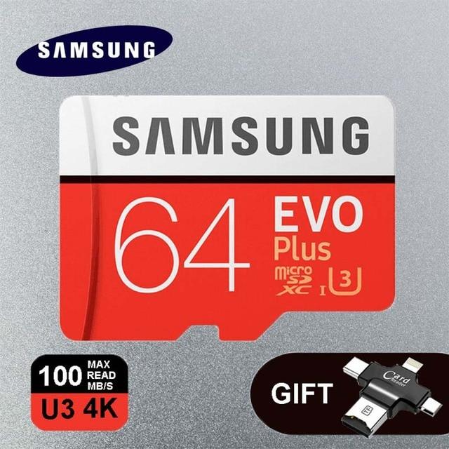 Samsung Evo Plus Memory Card 64gb U3 128gb 256gb Class10 32gb 16gb