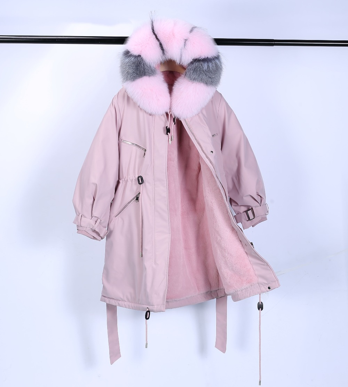 Large Natural Raccoon Fur Winter Jacket Women Hooded 19 Long Parkas For Female Thick Slim Down Winter Coat Women Waterproof 16
