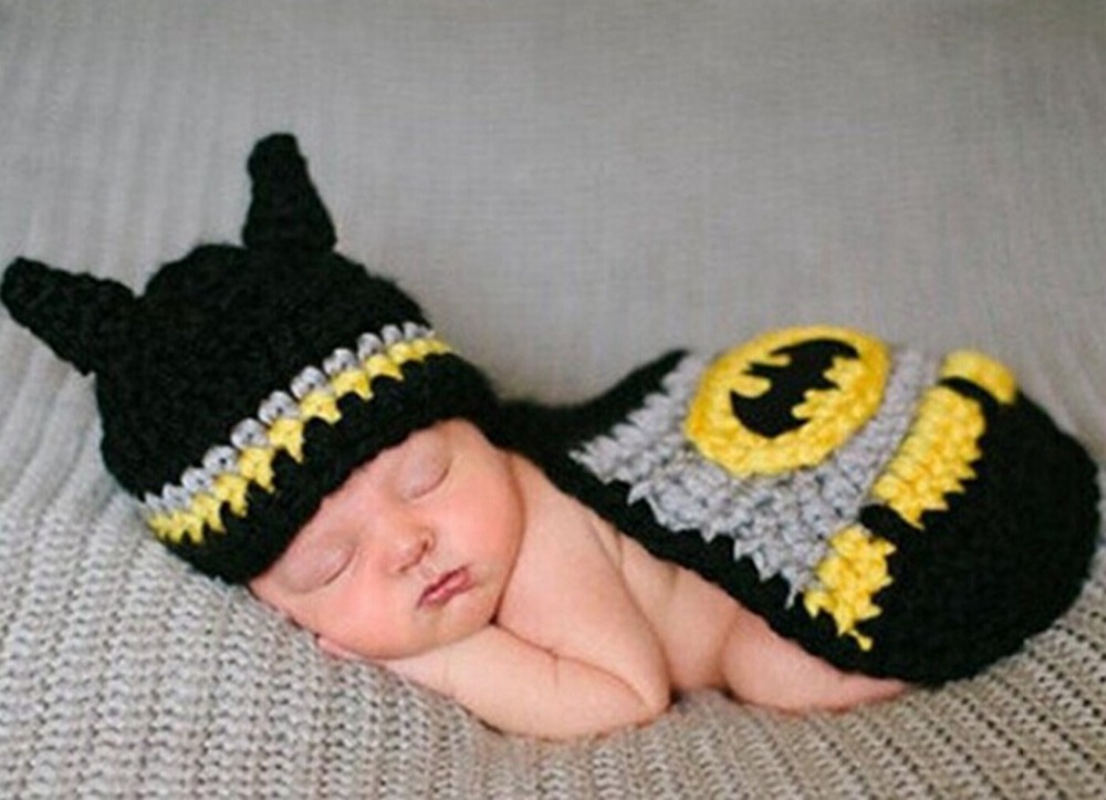 Newborn photography props batman baby crochet knitwear hats infant newborn photography props batman baby crochet knitwear hats infant kids clothes toddler christening in hats caps from mother kids on aliexpress dt1010fo