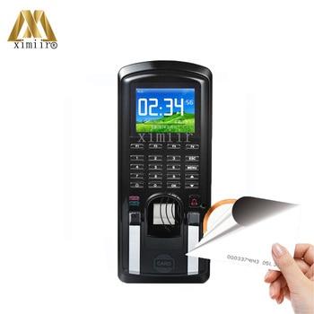 Door Access Control System Fingerprint 125KHz RFID Card Reader With Password Keypad Time Attendance MF151