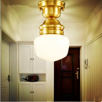 Amerikanischen Kupfer Plafon Retro Vintage Deckenleuchte Fr Hausbeleuchtung Wohnzimmer Led Leuchte PlafonnierChina