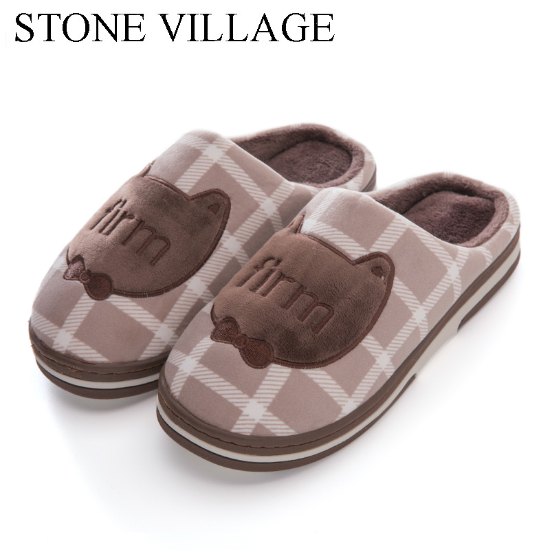 Cartoon Cat Home Slippers For Women Indoor Flat Shoes Lovers New Fashion Casual Men Slippers Wooden Floor Women Slippers Shoes children parents boys girls cartoon bathroom slippers summer women home slippers lovers slides flat with indoor fashion new