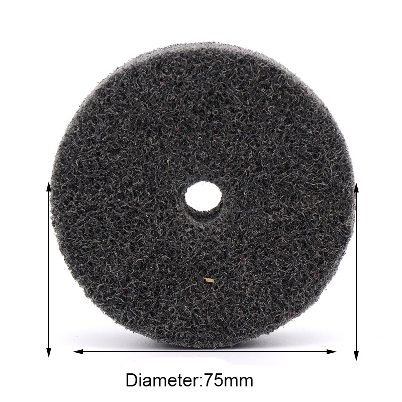 75mm 3 Inch Diameter Nylon Fiber Polishing Wheel For Metals Ceramics Marble Wood Grinding Buffing Disc Abrasive Tool