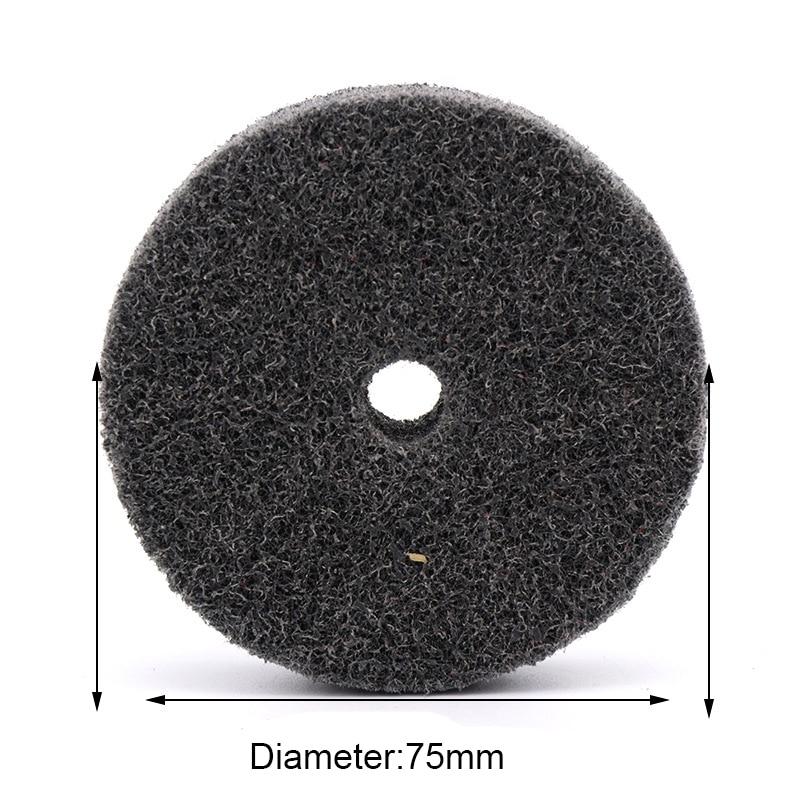 75mm 3 Inch Diameter Nylon Fiber Polishing Wheel For Metals Ceramics Marble Wood Grinding Buffing Disc Abrasive Tool