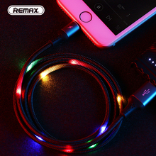 For iPhone Xs max XR X 8 7 6 8s 7s 6s plus 5s 1M Visible Flowing Charging Data Lighting Cable Line LED Wire Luminous