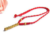 Pure 999 24K Yellow Gold Necklace/ Handcraft Knitted Beads Necklace/ 2.1g