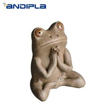Ceramics Frog Tea Pet Furnishings Lovely Lucky Mini Figurines Kung Fu Tea Set Accessories Tea Tray Desktop Decoration Crafts New