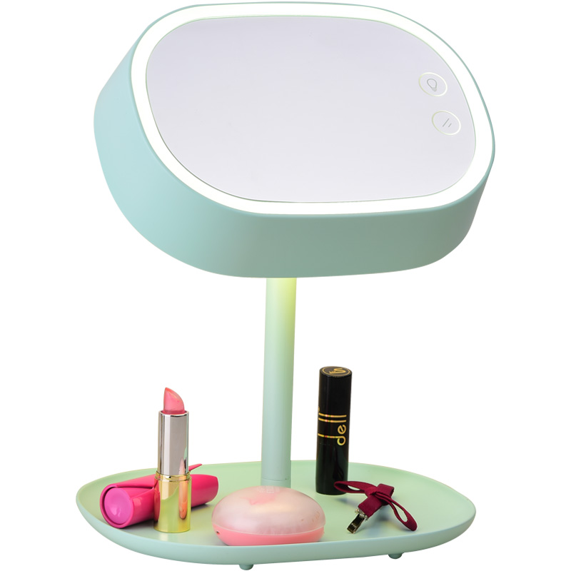 Led table lamp makeup mirror simple Multi-function high definition dressing mirror folding and lighting Beauty Princess mirror