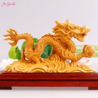 Boxwood Carving Dragon Furnishing Articles Chinese Zodiac Jinlong Office Furnishing Articles Boutique Gifts Crafts Collection