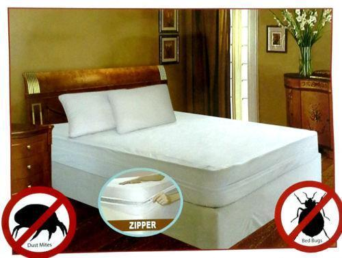 "2018 USA Anti-mite Queen 60*80+6"" Smooth Waterproof Mattress Encasement Zipper Mattress Cover Bed Bug Bite Proof and Bed Wetting"
