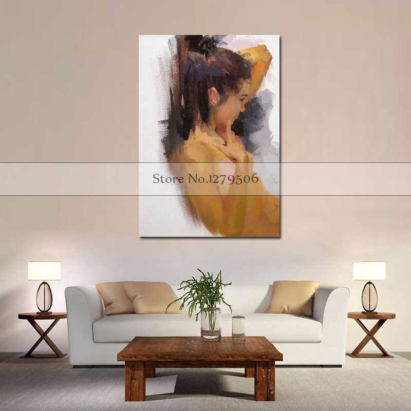 Big tits wall room Hand Painted Big Tits Nude Women Oil Painting On Canvas Modern Abstract Wall Art Picture Handmade Naked Women Acrylic Painting Painting Calligraphy Aliexpress