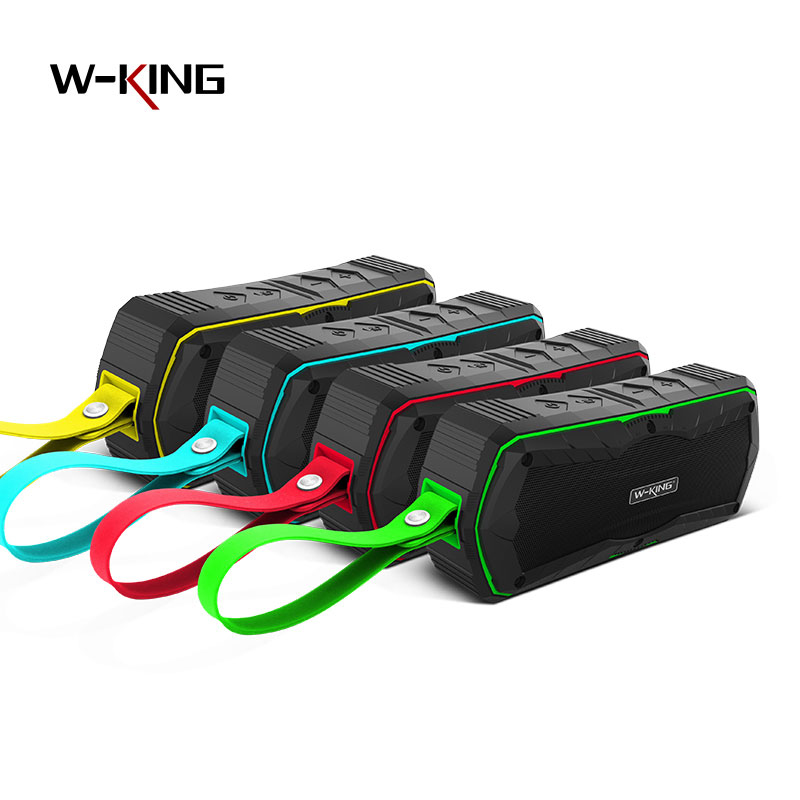 W-king Outdoor Waterproof Bluetooth Speaker With Mic TF Card AUX In Portable Wireless Outdoor Loudspeakers 4000mAh For Phone PC