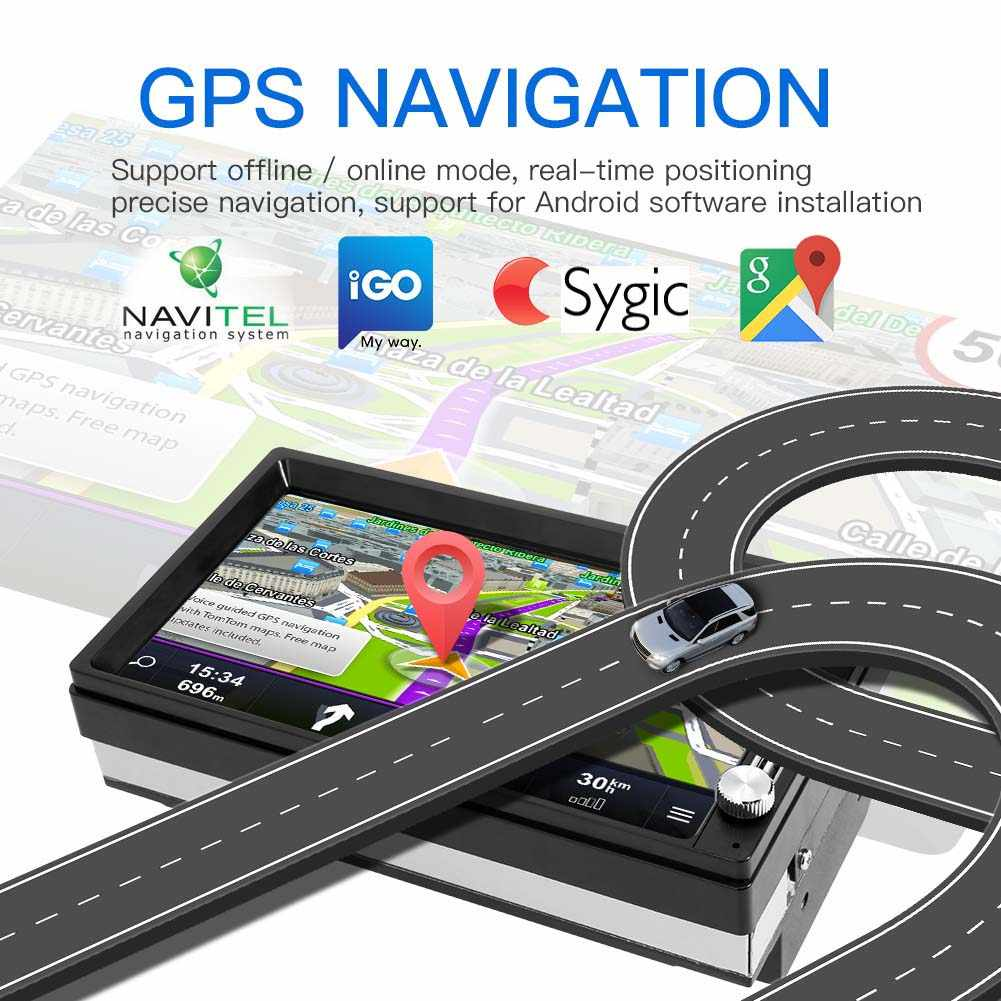 Phát Thanh Xe Hơi Android 8.1 Autoradio 2 DIN MP5 GPS Stereo Đầu Thu 2DIN Xe Âm Thanh Stereo Radio Para Coche Mirrorlink Wifi camera Sau