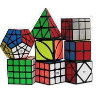 ZCUBE バンドル 8 ピース/セットギフトパック Qiyi XMD マジックキューブセット 2 × 2 × 2 3 × 3 × 3 4 × 4 × 4 ミラースピードキューブパズル教育玩具子供のため