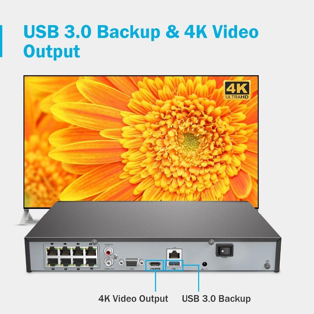 úTop SaleANNKE NVR Poe-Cctv-Cameras Video-Security-System Surveillance HDD H.265 8CH Ultra 4Kª