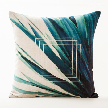 Green Palm Cushion Cover