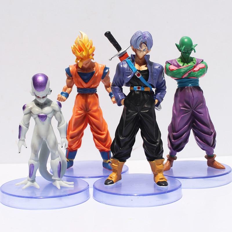 Dragon ball z figures 3th Goku figure chidren toy Christmas gift (4pcs/set) Free Shipping