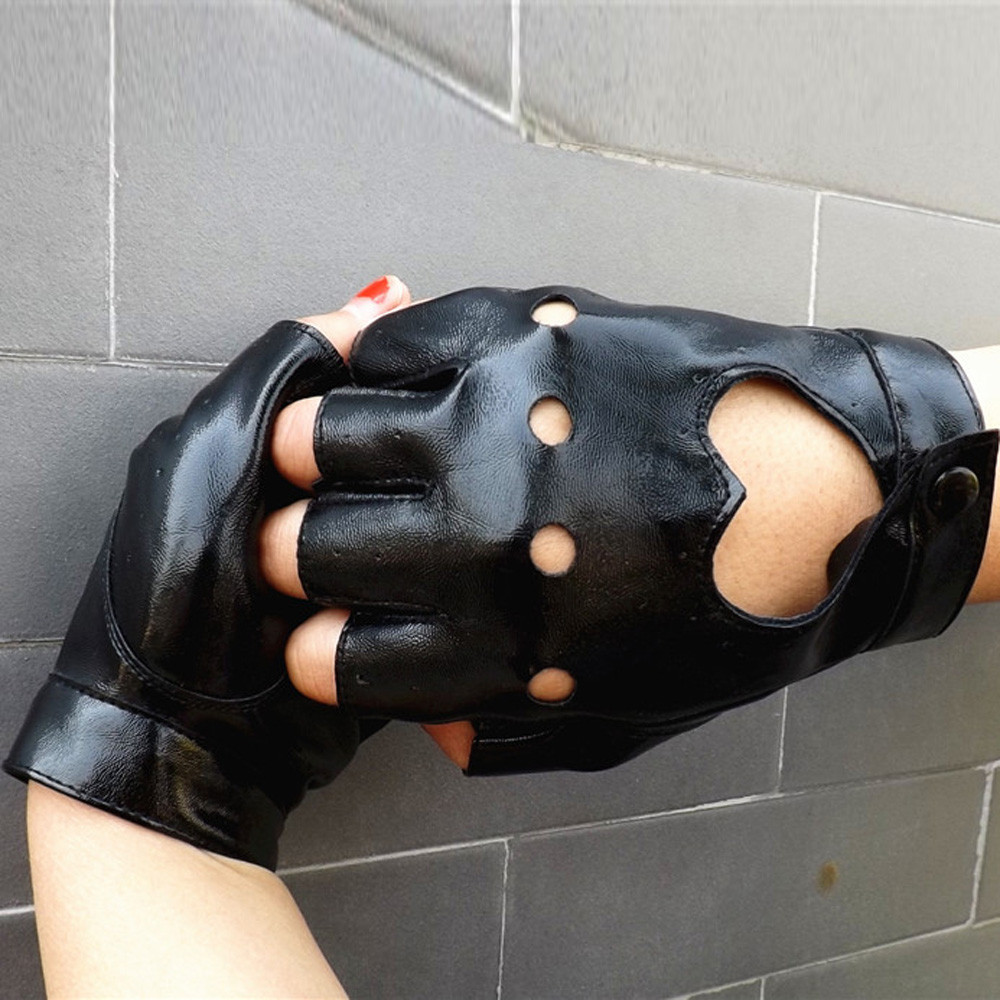 2018 Gloves Female Mittens Fashion 1 Pair Men Pu Leather -7839