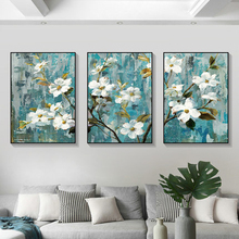 European and American apple flower decoration painting three pictures living room dining bedroom porch small fresh mural