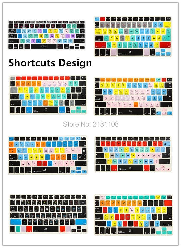 Ableton Live Logic Pro X Avid Pro Tools Shortcut Keyboard Cover Skin For Macbook Pro Air Retina 13 15 17