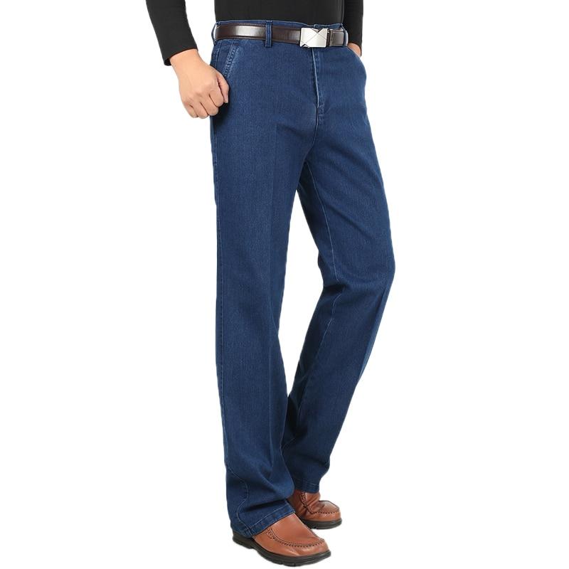Men Big Size 30-42 Hot Sale Fashion Style   Jeans   Homme Vintage Designed Classic Business Pants Male Autumn Comfortable JeansXNN58