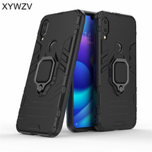 For Xiaomi Mi Play Case Armor Silm Metal Finger Ring Holder Phone Cover shell