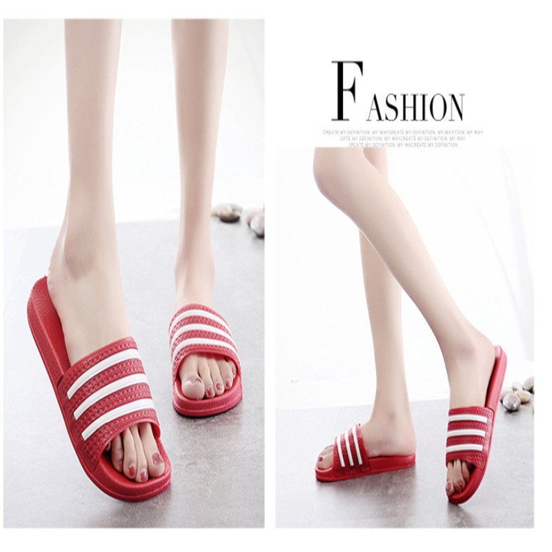 Teen Boys Girls Sandals Shoes Teenage Kids Summer Slippers Man Woman Beach Bath Shoes Home Slippers Casual Stripped PVC Shoes 18