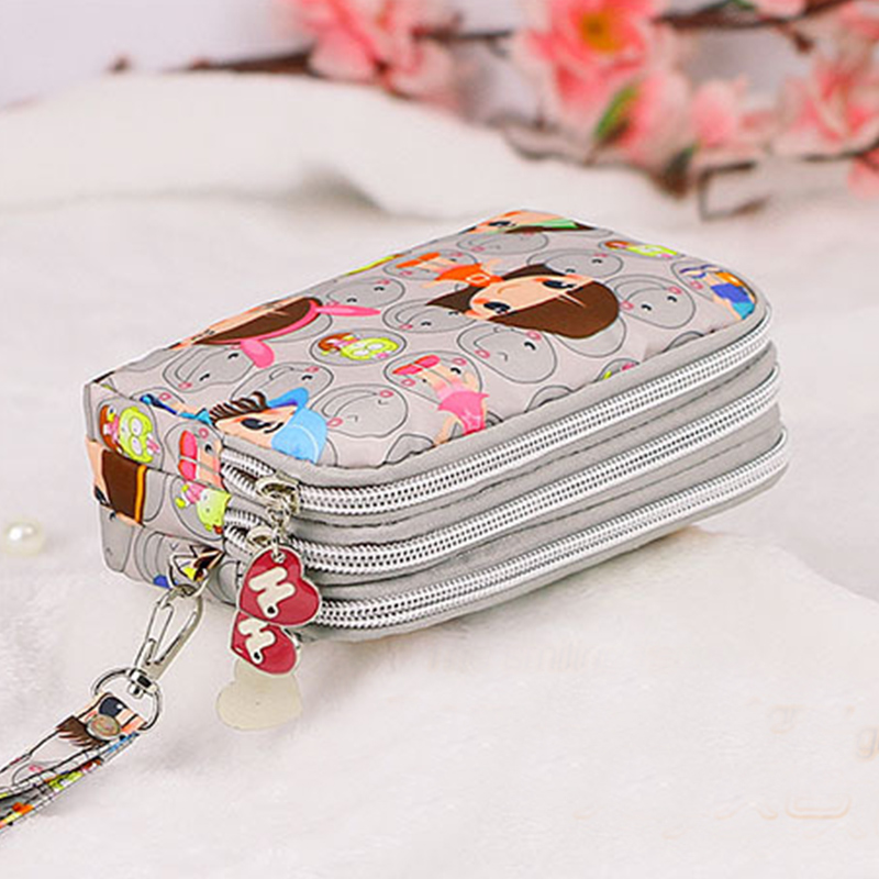 Hot Selling Cute Cat Women Coin Purse Clutch Wristlet Wallet Bag Phone Key Case Makeup Bag Ladies Credit Card Holder Tote cute cartoon animal cat silicone key holder case bag wallet pendant 9xrx