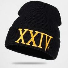 2018 nuevo 24 K magia Gorras sombrero Bruno Mars Beanie bordado XXIV esquí  invierno cálido Unisex Skullies y gorritas tejidas ho. 867e205f32f