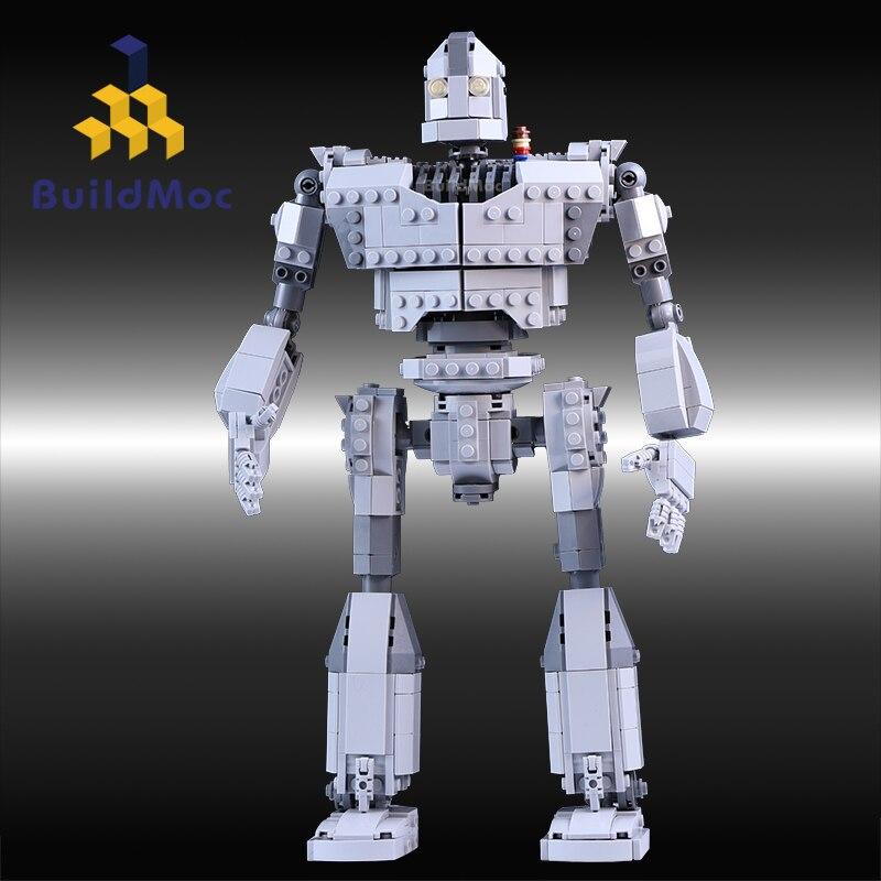 MOC serii cegieł 818 sztuk twórcy żelazny Robot Model klocki klocki zabawki kompatybilne z zestawy filmowe w Klocki od Zabawki i hobby na  Grupa 3