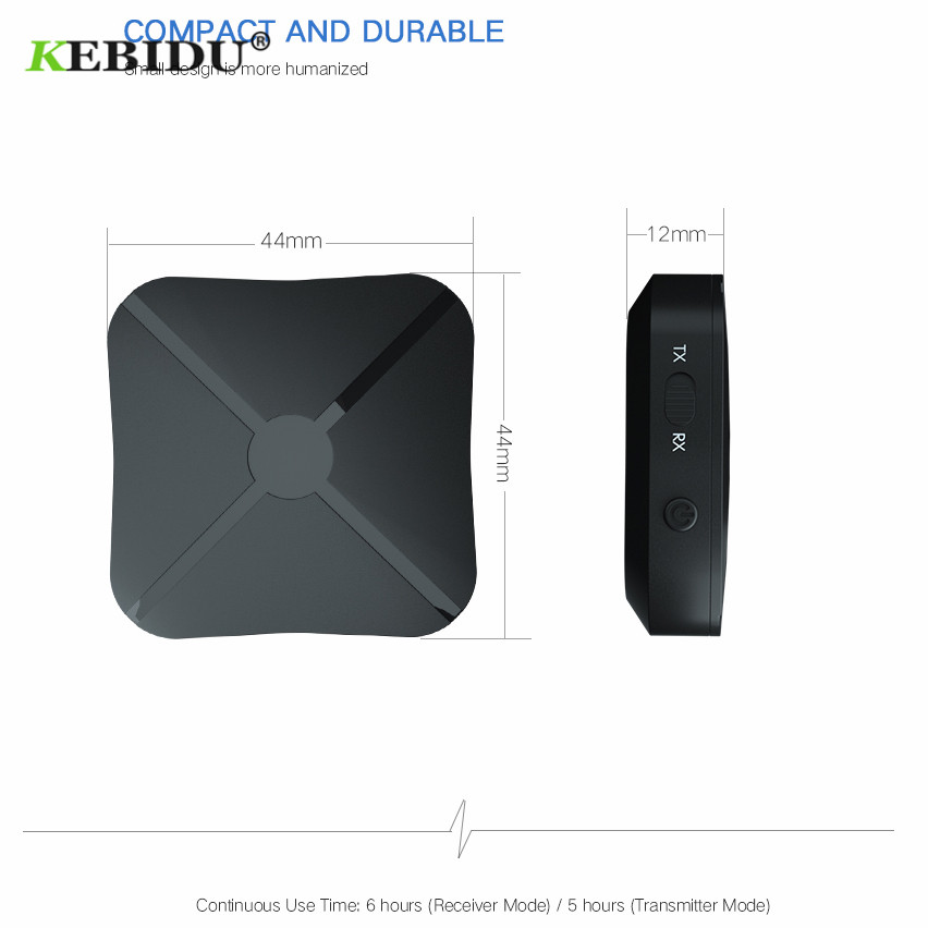 Image 2 - Kebidu 2 IN 1 Bluetooth 4.2 Receiver and Transmitter Bluetooth Wireless Adapter Audio With 3.5MM AUX Audio For Home TV MP3 PC-in Wireless Adapter from Consumer Electronics