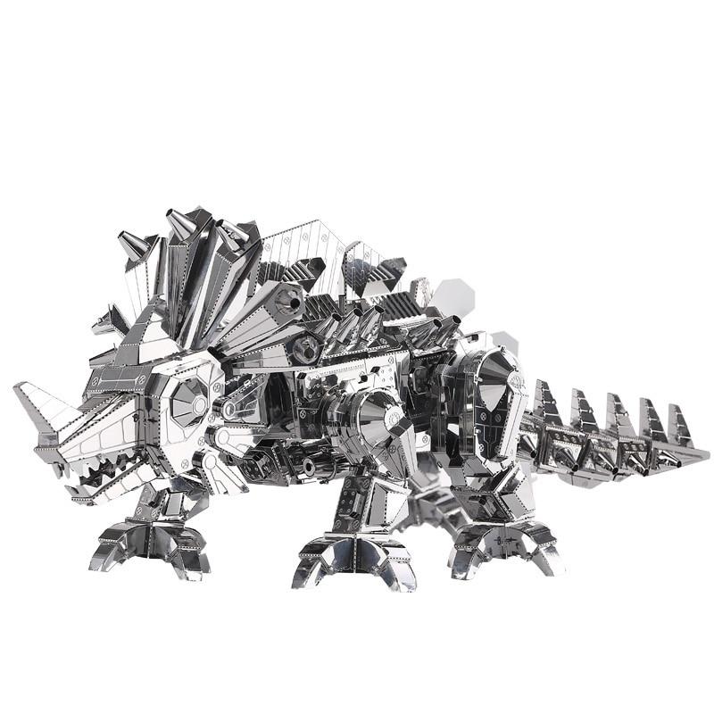 पीटकोल डायनासौर रॉक मॉन्स्टर DIY 3 डी मेटल नैनो पहेली असेंबल मॉडल किट P062-S लेजर कट आरा खिलौने