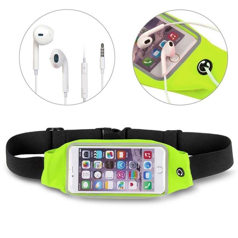 Hot Sport Runner Exercise Fitness Running Jogging Waist Bag Pouch Belt + Earphones For IPhone 6S Plus Samsung S7 BVN66