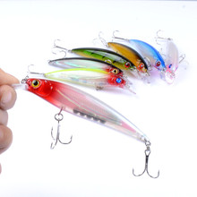 1Pcs 11cm/13.4g 3D Eyes Sea Fishing Minnow Lure Floating Lifelike Laser Crankbait Artificial Hard Baits Wobblers For