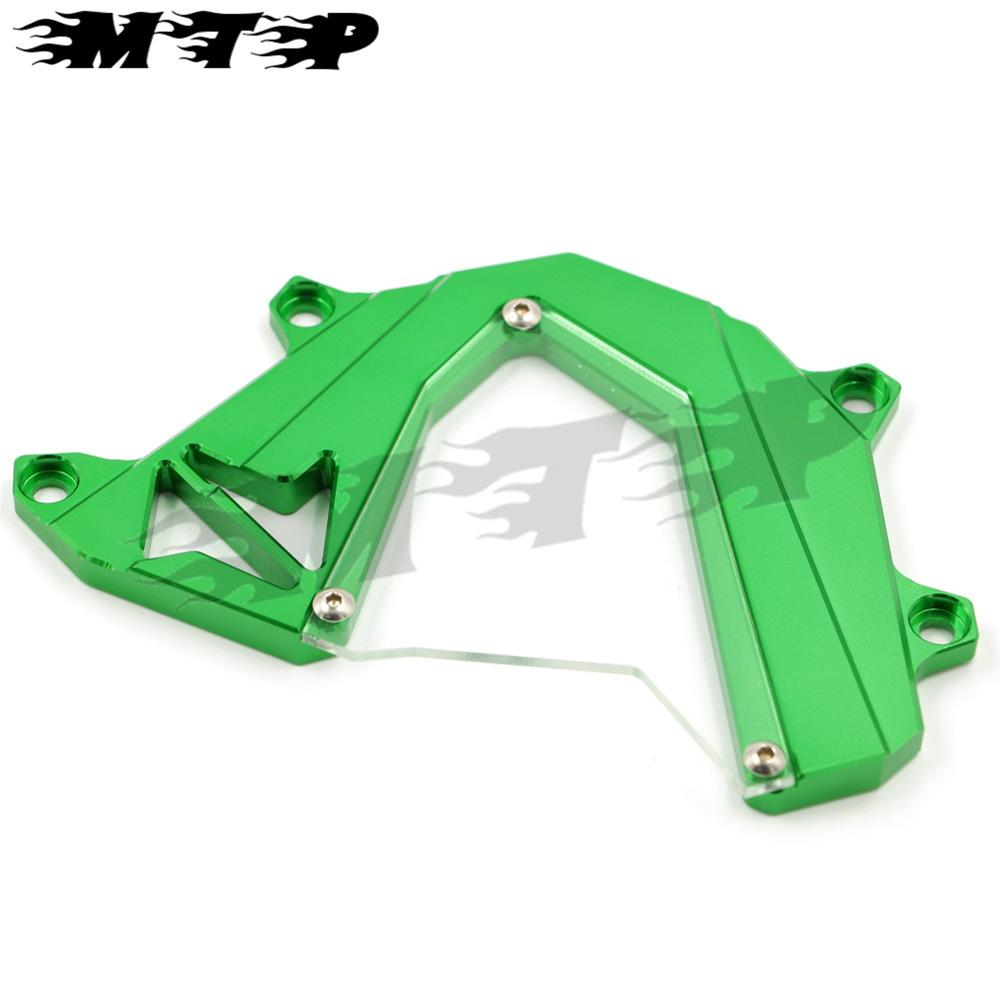 Motorcycle accessories CNC Aluminum Front Sprocket Cover Chain Guard Left Side  Engine For KAWASAKI Z800 2013 2014 2015 for kawasaki z800 2013 2015 motorcycle accessories cnc aluminum front brake reservoir cover green