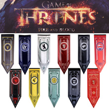 Game Of Thrones Stark Flag Families Home Decor Wolf Dragon Polyester Banner Games Decoration