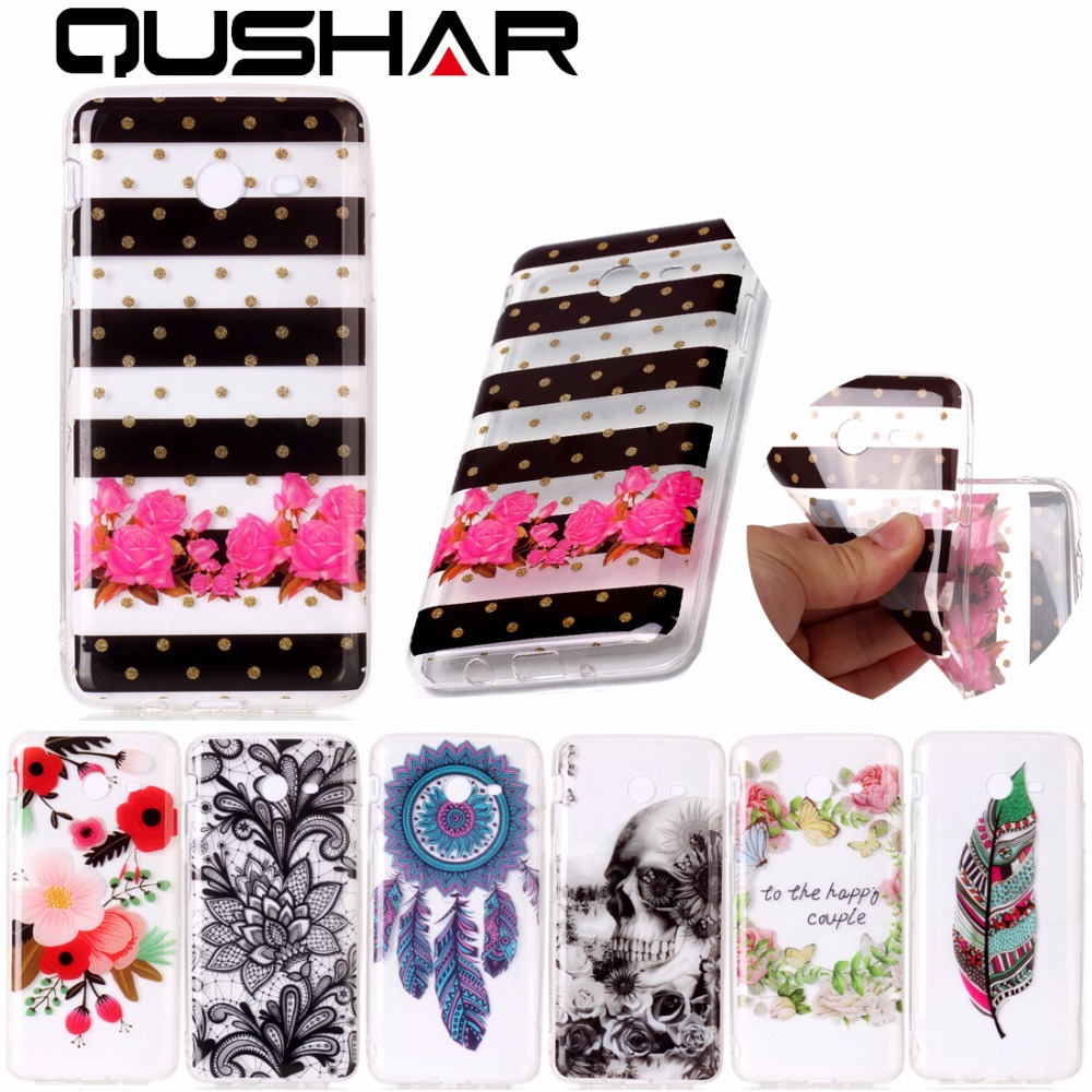 Galleria fotografica QuShar Soft TPU Phone Case for Samsung Galaxy J3 J5 J7 2017 (Not Europe edition) Slim Print Back Case for Samsung J320 J520 J720