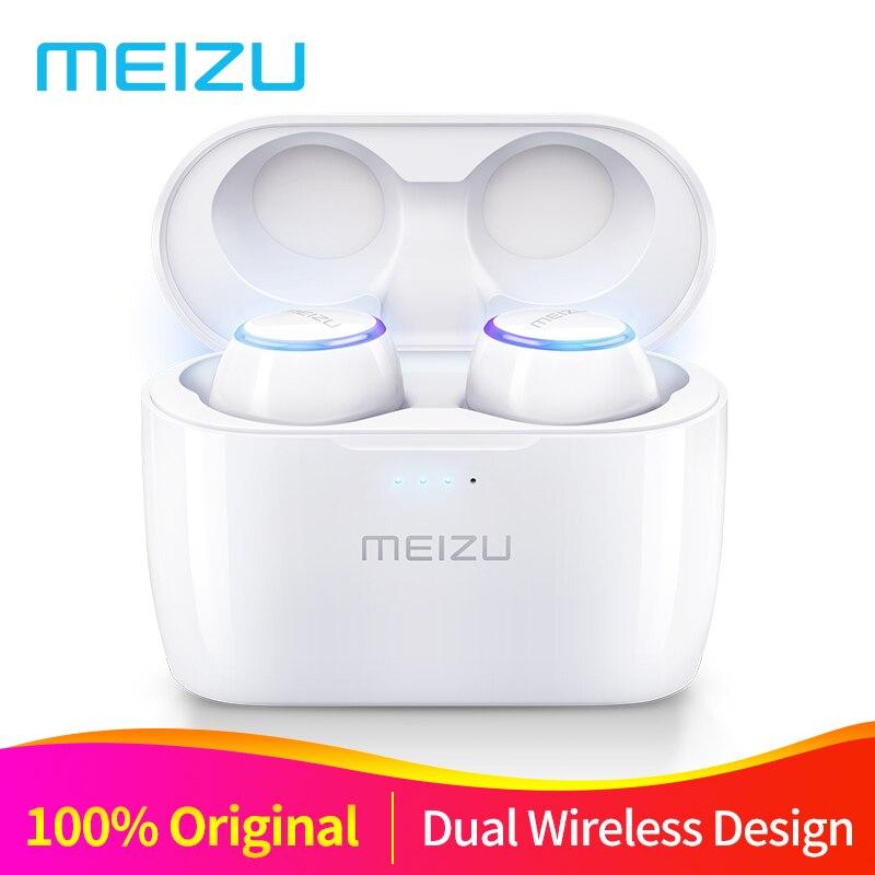 Original Meizu POP TW50 Dual inalámbrico auriculares auricular Bluetooth deportes en la oreja los auriculares impermeable auricular inalámbrico de carga