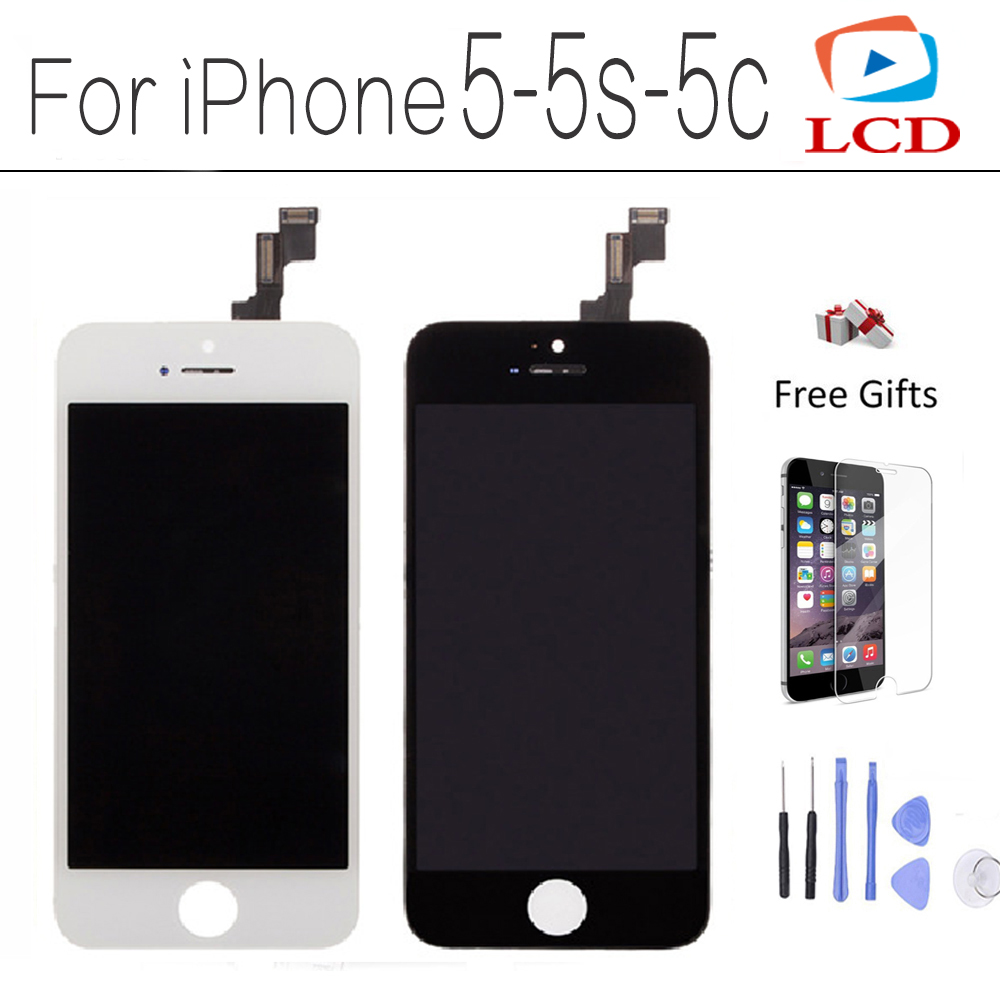 CXD-KX LCD For iPhone 5C 5S 5 LCD Display Full Screen Touch Glass Digitizer Assembly Replacement Without Dead Pixel TOP Quality