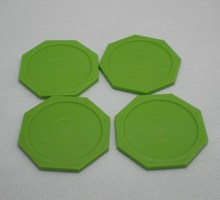 Free shipping 4pcs/lot hexagon green Air hockey table pusher puck 63MM 2-1/2″ GoalieS 6331